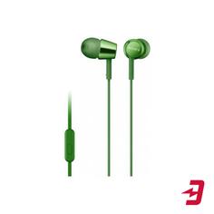 Наушники с микрофоном Sony MDR-EX155AP Green (MDREX155APGQ)