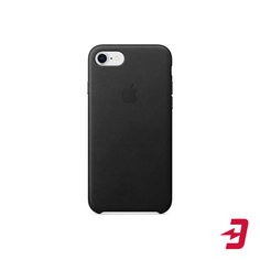 Чехол Apple для iPhone 8/7 Leather Case Black (MQH92ZM/A)