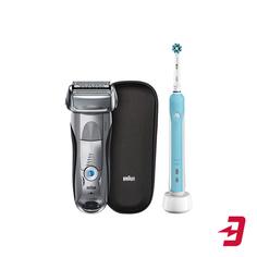 Электробритва Braun 7893S + электрическая зубная щетка Oral-B Pro 500