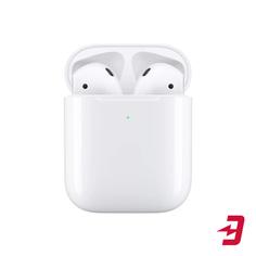 Беспроводные наушники с микрофоном Apple AirPods (2019) в футляре с возможностью беспроводной зарядки (MRXJ2RU/A)