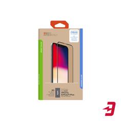 Защитное стекло с рамкой 3D InterStep Full Cover iPhone 8 Plus/7 Plus, белая рамка (IS-TG-IPH8P3DWH-UA3B202)