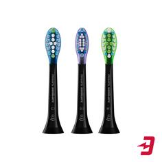 Насадка для зубной щетки Philips Sonicare HX9073/33 Premium Plague Control, для улучшения состояния дёсен, удаления налёта и осветления эмали, 3 шт