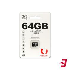 Карта памяти Utashi microSDXC 64GB Сlacc 10 UHS-I (UT64GBSDCL10-00)