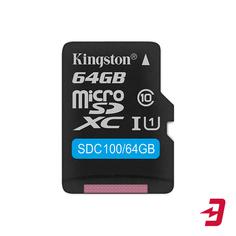 Карта памяти Kingston microSDXC 64GB Class 10 (SDC100/64GB)
