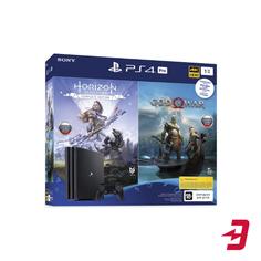 Игровая приставка PlayStation 4 Pro 1TB Black + Horizon Zero Dawn. Complete Edition + God Of War (CUH-7208B)