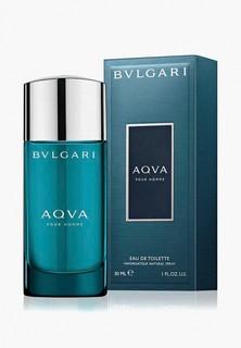 Туалетная вода Bvlgari Aqva Pour Homme, спрей, 30 мл