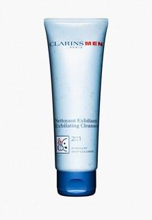"""Крем для лица Clarins очищающий """"2 в 1"""" MEN NETTOYANT EXFOLIANT, 125 мл"""