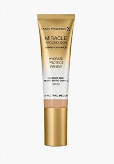 Тональное средство Max Factor Miracle Touch Second Skin, тон 07 neutral medium, 30 мл