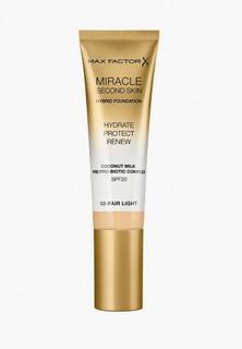 Тональное средство Max Factor Miracle Touch Second Skin , тон 02 fair light, 30 мл
