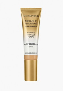 Тональное средство Max Factor Miracle Touch Second Skin, тон 06 golden medium, 30 мл