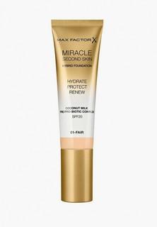 Тональное средство Max Factor Miracle Touch Second Skin, тон 01 fair, 30 мл