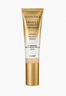 Тональное средство Max Factor Miracle Touch Second Skin, тон 03 light, 30 мл