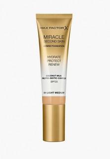 Тональное средство Max Factor Miracle Touch Second Skin, тон 04 light medium, 30 мл