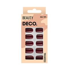 Набор накладных ногтей DE.CO. ESSENTIAL cherry love 24 шт+ клеевые стикеры 24 шт Deco