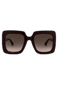 Солнцезащитные очки oversize square - Gucci
