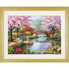 """Набор для вышивания """"Японский сад"""" 40.6 x 30.4 см Dimensions"""