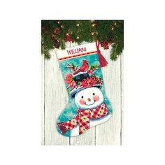 """Набор для вышивания Dimensions """"Новогодний носок от Снеговика"""""""