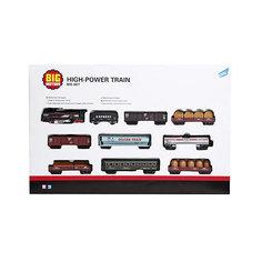 Железная дорога Big motors с 9 вагонами