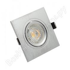 Встраиваемый светильник denkirs dk3021-cm ip 20, 10 вт, gu5.3, led, серый, пластик 538893