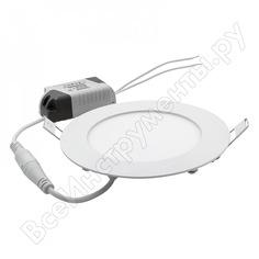 Светодиодный встраиваемый светильник general lighting systems круг 8w 396лм d120 413000