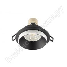 Встраиваемый светильник denkirs dk2400-bk ip 20, 50 вт, gu10, черный, алюминий 545337