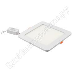 Светодиодный встраиваемый светильник general lighting systems квадрат 8w 396лм 120*120 413600