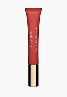 Бальзам для губ Clarins матовый, Velvet Lip Perfector, 02 velvet rosewood, 12 мл