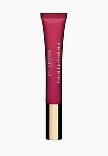 Бальзам для губ Clarins матовый, Velvet Lip Perfector, 04 velvet raspberry, 12 мл