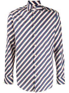 Etro полосатая футболка с графичным принтом