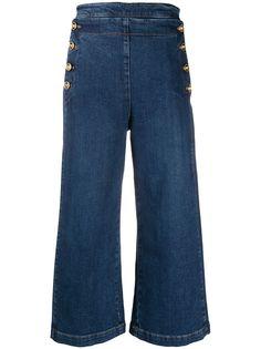 Versace джинсовые кюлоты с декором Medusa