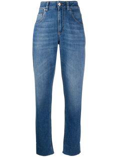 Brunello Cucinelli джинсы бойфренды с завышенной талией