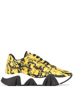 Versace кроссовки Squalo с принтом Barocco