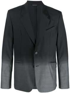 Givenchy однобортный пиджак с эффектом градиента