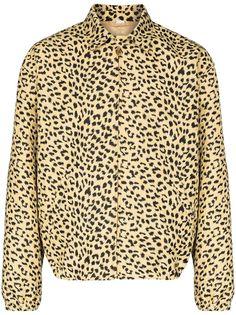 Gucci бомбер с леопардовым принтом