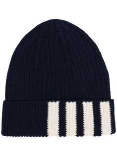 Thom Browne шапка бини с полосками 4-Bar