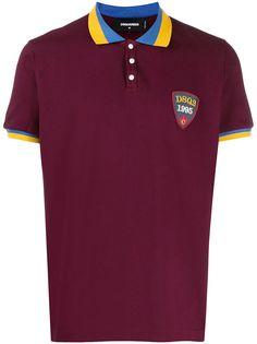 Dsquared2 рубашка-поло с нашивкой