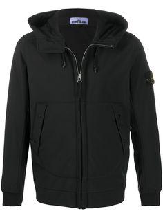Stone Island куртка с капюшоном и логотипом