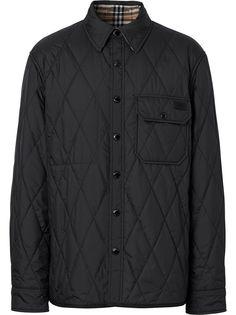 Burberry двусторонняя куртка-рубашка в клетку Vintage Check