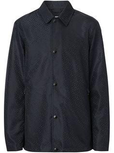 Burberry куртка-рубашка с монограммой