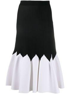 Alexander McQueen двухцветная юбка со складками