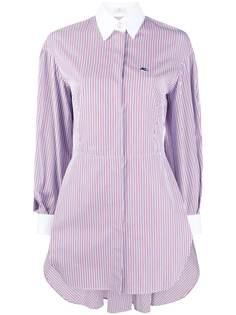 Etro платье-рубашка с вышивкой Pegaso