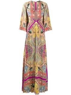 Etro платье с принтом пейсли