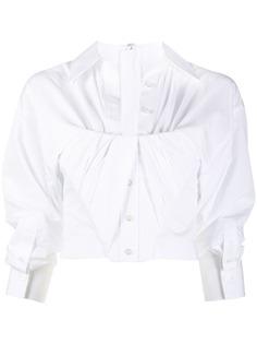 Alexander Wang укороченная рубашка с корсетной вставкой