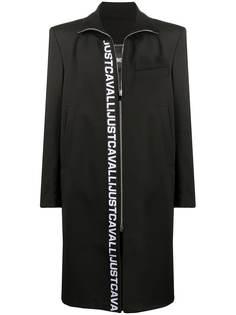 Just Cavalli пальто миди с логотипом
