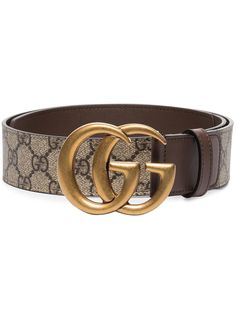 Gucci ремень Marmont с узором GG Supreme