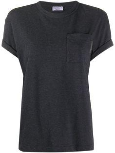 Brunello Cucinelli футболка с круглым вырезом и карманом