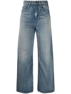Saint Laurent джинсы прямого кроя с эффектом потертости