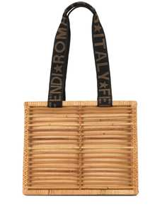 Fendi Pre-Owned сумка-тоут из рафии