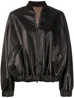 Brunello Cucinelli куртка-бомбер со сборками