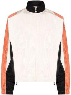 Marine Serre спортивная куртка из ткани муар